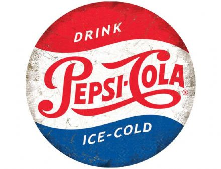 Pepsi Cola - Vintage Round - Metal Wall Sign (2 sizes)